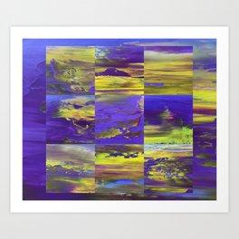Dive In Dive Ine in a purple melody Art Print