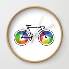 Geometric Bicycle Wall Clock