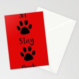 Dog Sit Stay Drink Stationery Cards