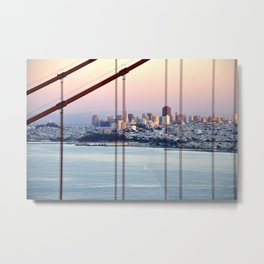 SAN FRANCISCO & GOLDEN GATE BRIDGE AT SUNSET Metal Print