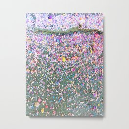 Confetti Chalk Dust Rainbow Metal Print
