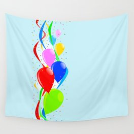 Balloons and Confetti Party Wall Tapestry