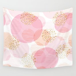 Pink Circles Wall Tapestry