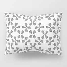 Feather Fan pattern - black and white Pillow Sham