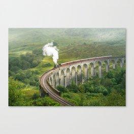 Hogwart Express steam engine in the scottish highlands Canvas Print