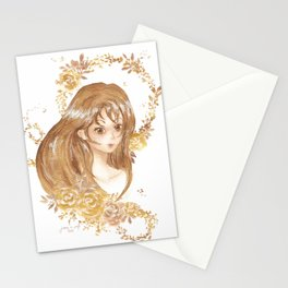 Golden Flora Stationery Cards