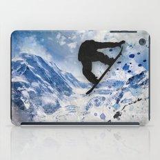 Snowboarder In Flight iPad Case
