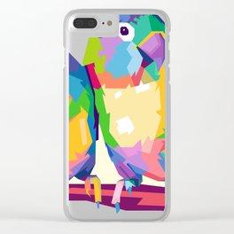 Love Bird POP ART Clear iPhone Case