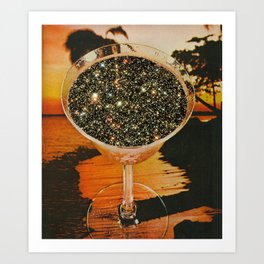 Cocktails of stars  Art Print