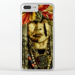 Crying Indian Clear iPhone Case