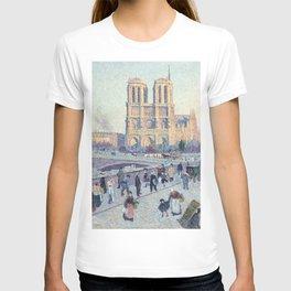 Maximilien Luce,  The Quai Saint-Michel and Notre-Dame T-shirt