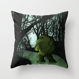 Swamp Creature Throw Pillow