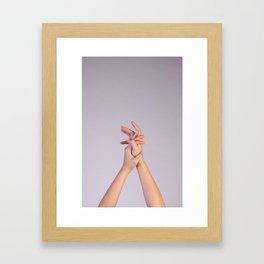 Hand Up Framed Art Print