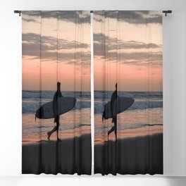 Vintage Surfer Blackout Curtain