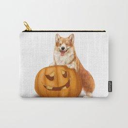 Corgi and Pumpkin Carry-All Pouch