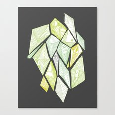 green diamonds Canvas Print
