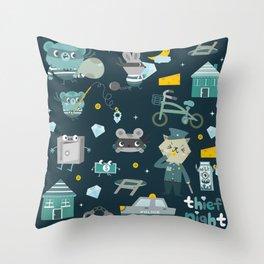 Thief night Throw Pillow