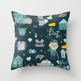Thief night Throw Pillow