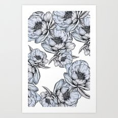 floating flowers Art Print