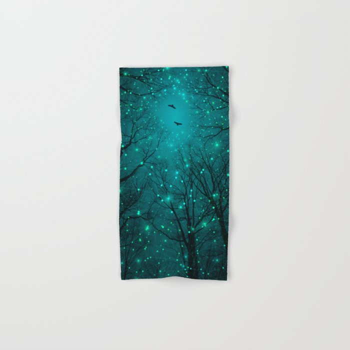 One by One, the Infinite Stars Blossomed Hand & Bath Towel