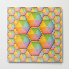 Rainbow Facets Metal Print