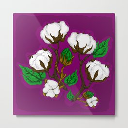 Cotton Berry Metal Print