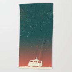 Quiet Night - starry sky Beach Towel