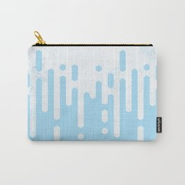 Marble and Geometric Diamond Drips, in Blue Carry-All Pouch
