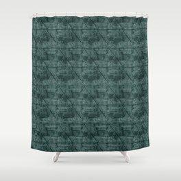 cadence triangles - dark green Shower Curtain