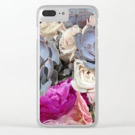 Succulent Floral Clear iPhone Case