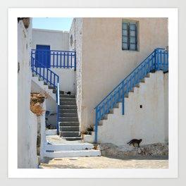 The Greek Village on Milos Art Print