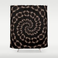 sparkles Shower Curtains featuring sparkles by Deborah Janke
