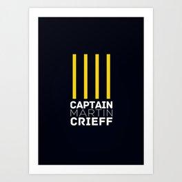 Captain Martin Crieff Art Print