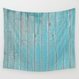 Blue Slats Wall Tapestry