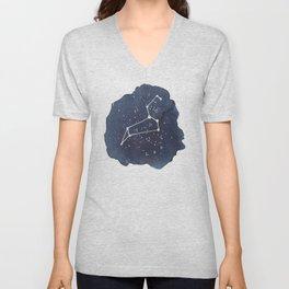 leo constellation zodiac Unisex V-Neck