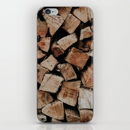 Chopped Firewood Stack iPhone Skin