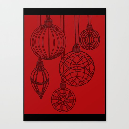 Ornaments in Red Collection (design 2) Canvas Print
