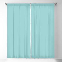 Pastel Aquamarine Blue Green Solid Color Inspired by Behr Big Surf M460-3 Blackout Curtain