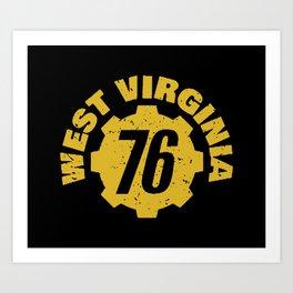 West Virginia 76 Art Print