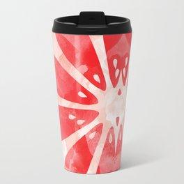 Red Grapefruit Abstract Travel Mug
