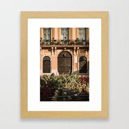 Gate of the city hall Sombor, Serbia Framed Art Print