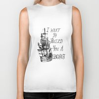 larry stylinson Biker Tanks featuring I want to build you a boat. Harry Styles. Tattoo. (Larry Stylinson) by Arabella