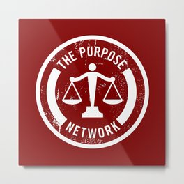 The Purpose Network (RED) Metal Print