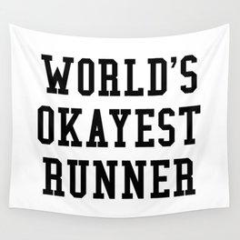 World's Okayest Runner Wall Tapestry