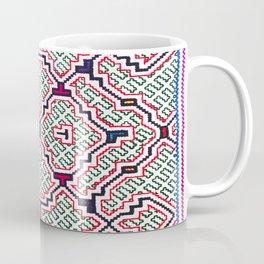 Song for Good Work - Traditional Shipibo Art - Indigenous Ayahuasca Patterns Coffee Mug