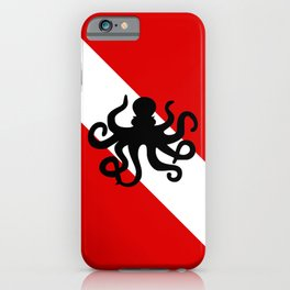 Diving Flag: Octopus iPhone Case