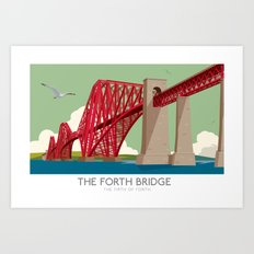 Forth Rail Bridge - Railway poster Art Print