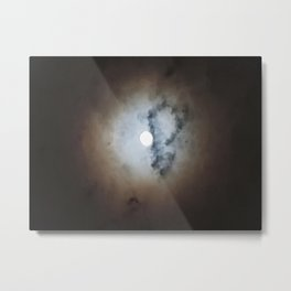 Banded Full Moon Metal Print