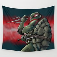 tmnt Wall Tapestries featuring Raphael . TMNT by Moonsia