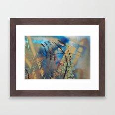Retrollage 10.. Framed Art Print